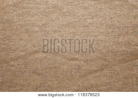 Detailed Closeup Vintage Old Textured Fabric Burlap