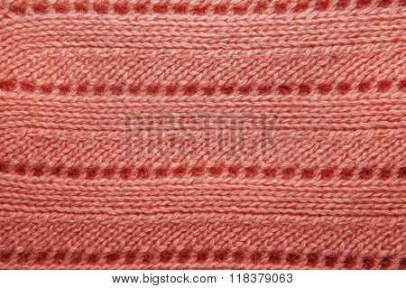 Pink Wool Sweater Texture Close Up.