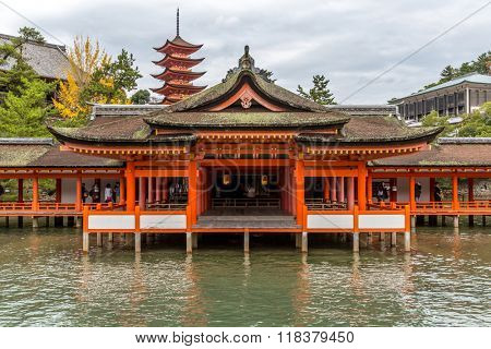 Miyajima, Hiroshima, famed floating Shrine temple  itsukushima Japan
