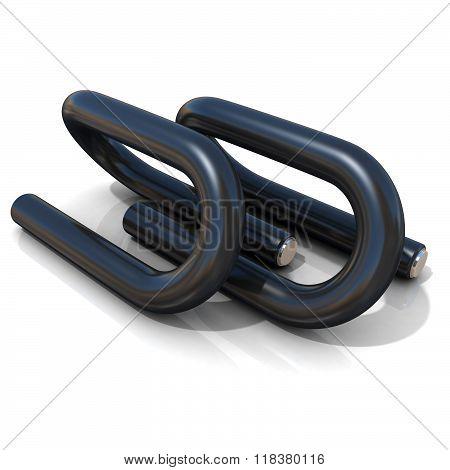 Black push-up bars