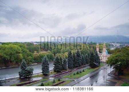 Landscape Of Vladikavkaz City In Russia