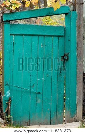 Old wooden gate in garden