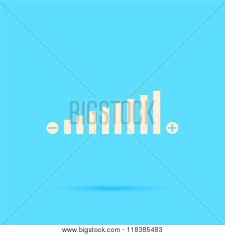 Volume adjustment vector icon