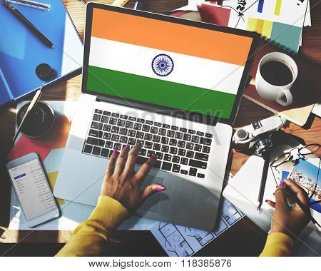 India Flag Patriotism Indian Pride Unity Concept