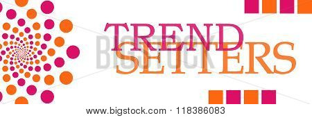 Trend Setters Pink Orange Dots Horizontal