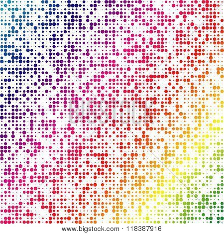 Multicolored dot abstract vector background. EPS 10.