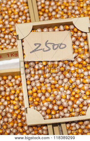 Loose Hazelnuts On The Market