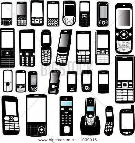 mobile phone collectiom - vector