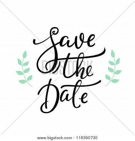Save The Date Lettering Decor