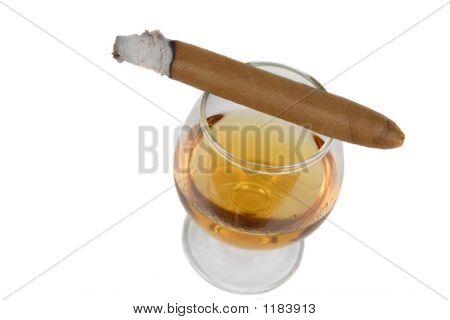 Brandy Sniffer And Cigar