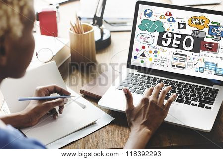 SEO Search Engine Optimization Internet Digital Concept