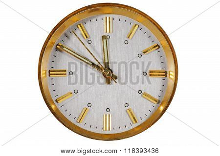 Clock Face Isolated On White Background, Clipping Path