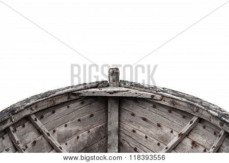Interior Of An Old Fishing Wood Boat