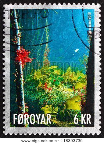 Postage Stamp Faroe Islands 2010 Underwater Life