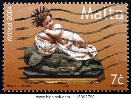 Postage Stamp Malta 2004 Effigy Of Infant Jesus