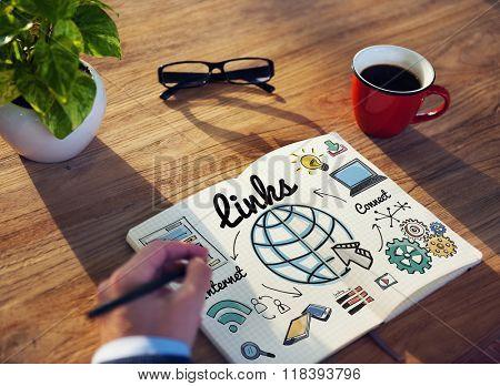 Links Global Communication Connection Hyperlink Concept
