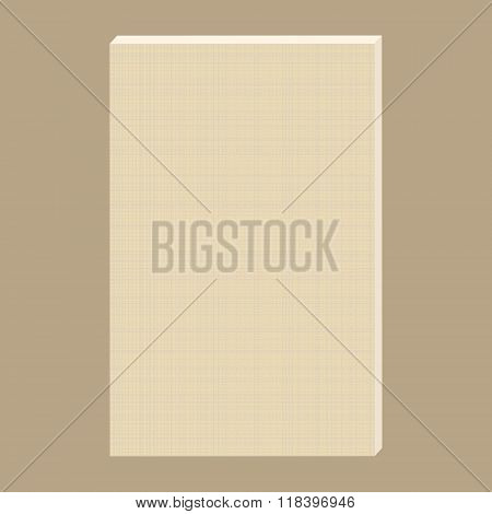 Vector Blank Canvas. White Canvas With Delicate Grid To Use As Background. Canvas For Painting.