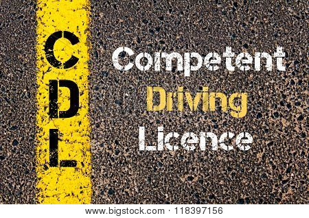 Business Acronym Cdl Competent Driving Licence