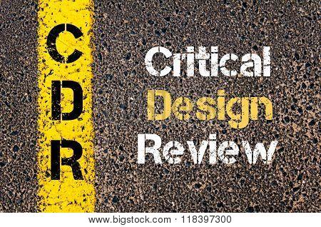Business Acronym Cdr Critical Design Review