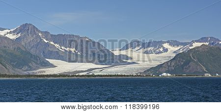 Massive Glacier Viewed From The Sea