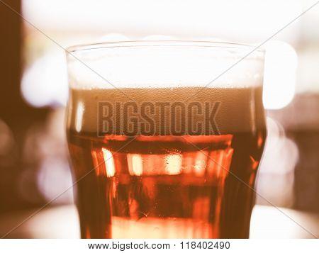 Pint Of Beer Vintage