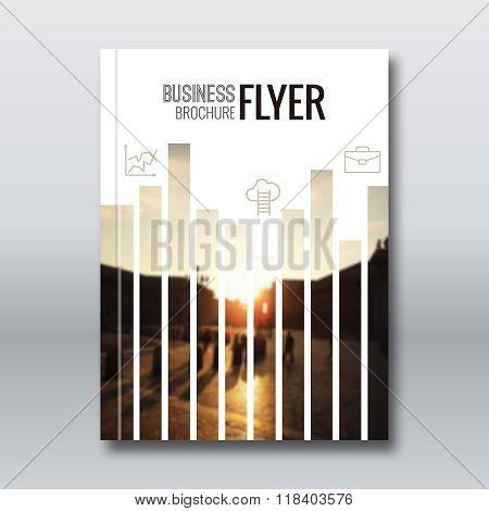 Modern Vector Abstract Brochure, Report or Flyer Design Template. Vector illustration. Technology Ba