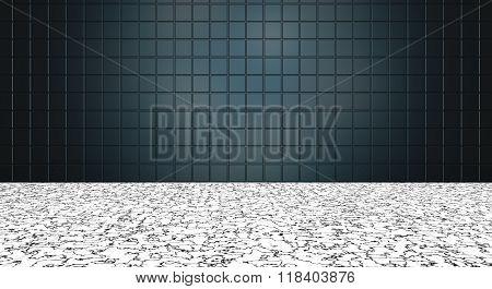 Modern Style Bluish Black Tile Background