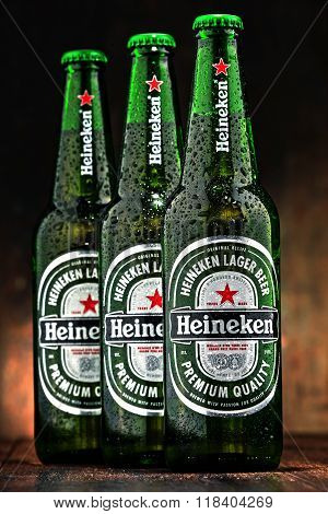 Bottles Of Heineken Beer