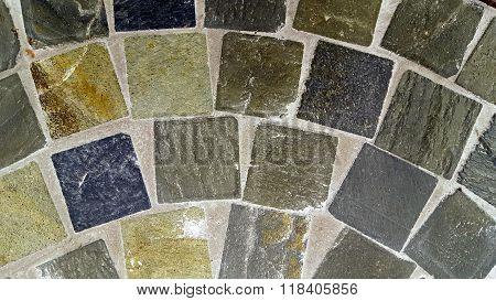 stone tile semi circle design