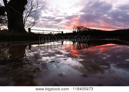 Reflection After Storm Imogen - Sunset