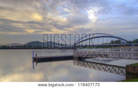 Putrajaya, Malaysia Bridge and Jetty