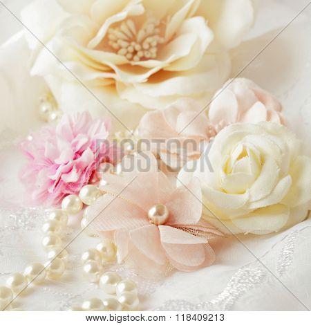 decorative flowers, pastel colors