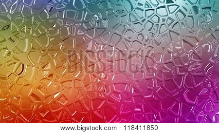 Rainbow Color Metal Giffar Pattern