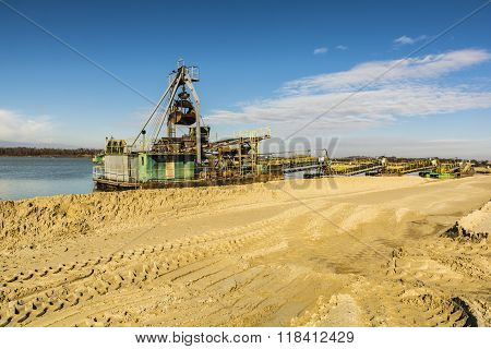 Dredge For The Extraction Of Aggregates.