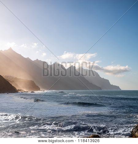 Coastline near Tagana village on Tenerife island