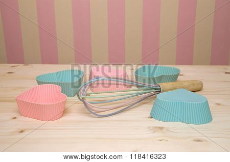 Muffin Liners And Egg Whisk