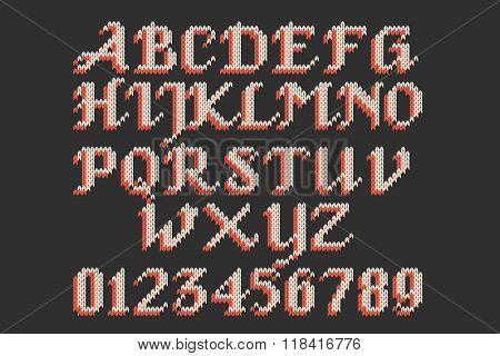 Vintage Knitted Alphabet