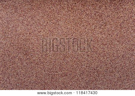 Decorative wall finish with sand