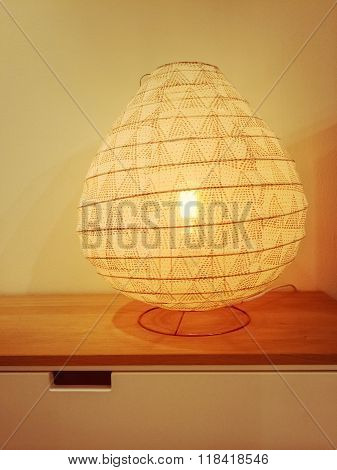 Cozy Lamp Giving Warm Yellow Light