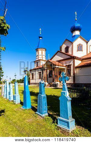 wooden Orthodox church of Saint James, Losinka, Podlaskie Voivodeship, Poland