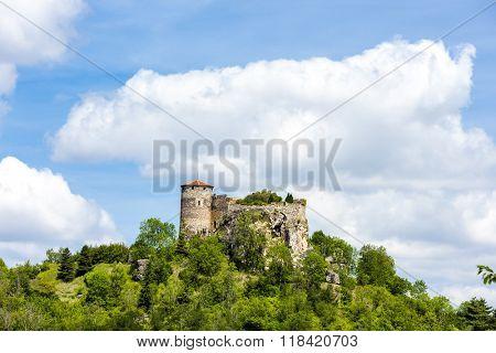Busseol Castle, Puy-de-Dome Department, Auvergne, France