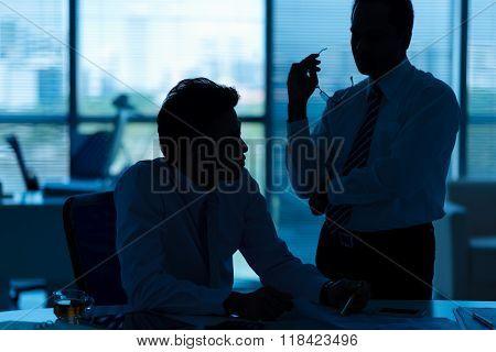 Discussing problem