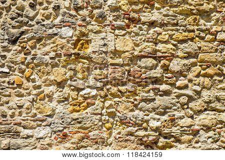 Old natural stonewall