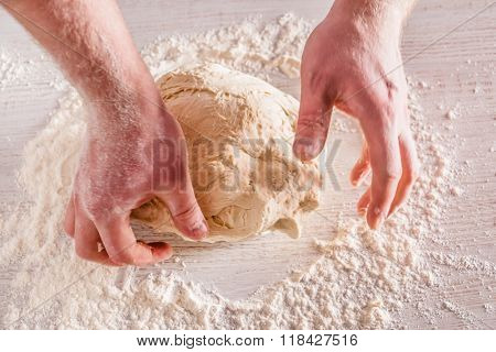 chef making bread