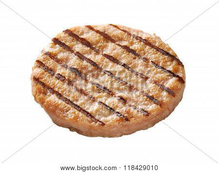 Chicken Burger Isolated On White