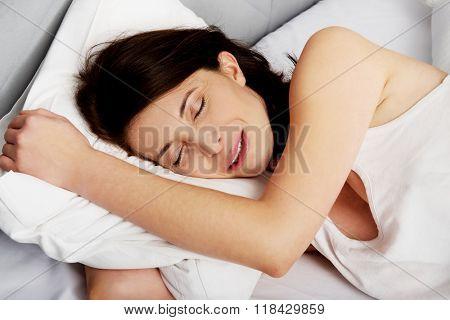 Woman having a nightmare.