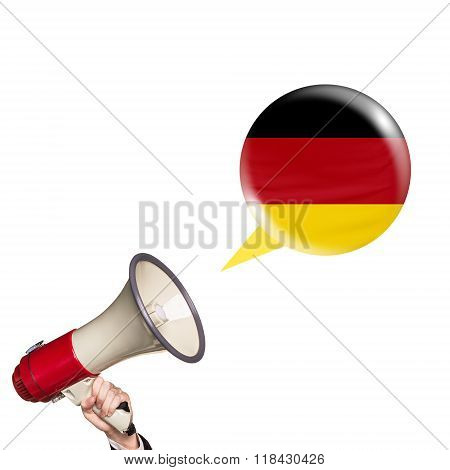 Megaphone speak foreign language