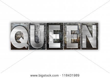 Queen Concept Isolated Metal Letterpress Type