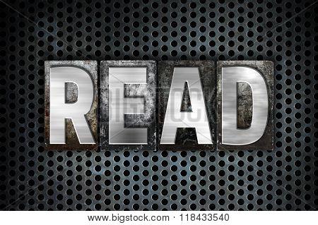 Read Concept Metal Letterpress Type