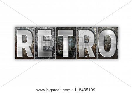 Retro Concept Isolated Metal Letterpress Type